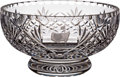 Golf Collectibles:Miscellaneous, 1977 Masters Tournament Crystal Coaching Bowl From The Sam Snead Collection....