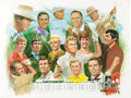 Golf Collectibles:Miscellaneous, 1980 Greensboro Open Signed Poster From The Sam Snead Collection....