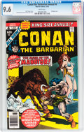 Bronze Age (1970-1979):Adventure, Conan the Barbarian Annual #4 (Marvel, 1978) CGC NM+ 9.6 White pages....
