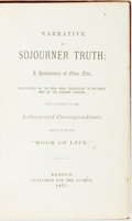 Books:Biography & Memoir, [Slavery]. [Sojourner Truth]. Narrative of Sojourner Truth; aBondswoman of Olden Time, with a History of her Labors and...