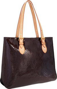 """Louis Vuitton Amarante Vernis Leather Brentwood Tote Bag Very Good Condition 14"""" Width x 11"""" Heig"""