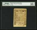 Colonial Notes:Rhode Island, Rhode Island May 1786 10s PMG About Uncirculated 55 Net.. ...