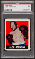 Boxing Cards:General, 1948 Leaf Jack Johnson #17 PSA NM 7....