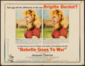 "Movie Posters:Comedy, Babette Goes to War (Columbia, 1960). Half Sheet (22"" X 28"") Style B. Comedy.. ..."