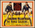 "Movie Posters:Western, The Horse Soldiers (United Artists, 1959). Half Sheet (22"" X 28"") Style A. Western.. ..."