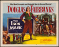 "Movie Posters:Adventure, The Iron Mask (Lippert, R-1953). Half Sheet (22"" X 28"").Adventure.. ..."