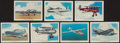 """Non-Sport Cards:Sets, 1940's T87 Wings Cigarettes """"Modern American Airplanes"""" FirstSeries Complete Set (50). ..."""