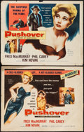 "Movie Posters:Film Noir, Pushover (Columbia, 1954). Half Sheet (22"" X 28"") Style A & B. Film Noir.. ... (Total: 2 Items)"