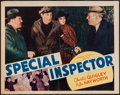 "Movie Posters:Crime, Special Inspector (Warwick Pictures, 1939). Half Sheet (22"" X 28"").Crime.. ..."