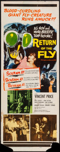 "Movie Posters:Science Fiction, Return of the Fly (20th Century Fox, 1959). Insert (14"" X 36"").Science Fiction.. ..."