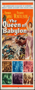 "Movie Posters:Drama, The Queen of Babylon (20th Century Fox, 1956). Insert (14"" X 36""). Drama.. ..."