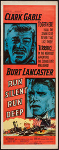 "Movie Posters:War, Run Silent, Run Deep (United Artists, 1958). Insert (14"" X 36"").War.. ..."