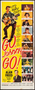 """Movie Posters:Rock and Roll, Go, Johnny, Go! (Hal Roach, 1959). Insert (14"""" X 36""""). Rock andRoll.. ..."""