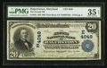 National Bank Notes:Maryland, Hagerstown, MD - $20 1902 Plain Back Fr. 652 The Second NB Ch. #(M)4049. ...