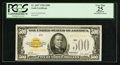 Small Size:Gold Certificates, Fr. 2407 $500 1928 Gold Certificate. PCGS Apparent Very Fine 25.. ...