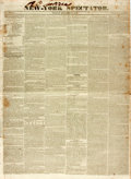 Books:Periodicals, [Slave Trade]. [Newspaper]. New-York Spectator. 1831. Two integral leaves with one horizontal folding crease. Some s...