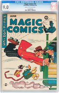 Golden Age (1938-1955):Miscellaneous, Magic Comics #59 (David McKay Publications, 1944) CGC VF/NM 9.0 Cream to off-white pages....