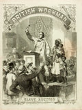 Books:Periodicals, [Slave Sales] [Newspaper]. British Workman. 1861. Featuringa cover illustration of a slave auction by J. Johnston, ...