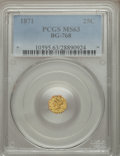 California Fractional Gold: , 1871 25C Liberty Octagonal 25 Cents, BG-768, R.4, MS63 PCGS. PCGSPopulation (16/2). NGC Census: (2/1). ...