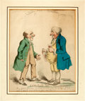Books:Original Art, [Original Art]. George Woodward (English caricaturist, 1760-1809).Original SIGNED Ink and Watercolor, Nobody and Somebo...