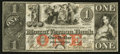 Obsoletes By State:Rhode Island, Providence, RI- Mount Vernon Bank $1 Jan. 1, 1857 G50 Durand 1685. ...