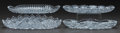 Art Glass:Other , FOUR CUT-GLASS OVAL SERVING DISHES, 20th century. 12-1/2 incheswide (31.8 cm) (widest). ... (Total: 4 Items)
