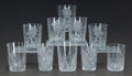 Art Glass:Other , A SET OF FIVE CUT-GLASS TUMBLERS AND FIVE VARIOUS CUT-GLASSTUMBLERS, 20th century. 4 inches high (10.2 cm) (tallest). ...(Total: 10 Items)