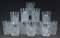 Art Glass:Other , A SET OF FIVE AND A SET OF SEVEN CUT-GLASS TUMBLERS, 20th century.4 inches high (10.2 cm) (tallest). ... (Total: 12 Items)