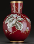 Art Glass:Other , HARRACH BOHEMIAN ENAMELED GLASS VASE, circa 1900. Enameled: h.4.. 12 inches high (30.5 cm). ...