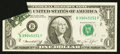 Error Notes:Printed Tears, Fr. 1908-B $1 1974 Federal Reserve Note. Extremely Fine.. ...