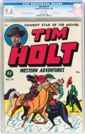 Golden Age (1938-1955):Western, Tim Holt #1 Vancouver pedigree (Magazine Enterprises, 1948) CGC NM+9.6 White pages....
