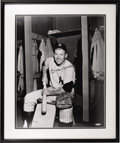 Autographs:Photos, 1993 Mickey Mantle Signed UDA Large Photograph. Odds are youhaven't seen this one before, a fantastic locker room image of...