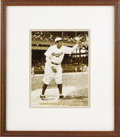 Autographs:Photos, 1938 Babe Ruth Signed Photograph. The great Bambino appears in thelast Major League uniform he'd ever wear, departing the ...