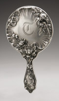 Silver Holloware, American:Mirrors and Vanity-related , An American Silver Hand Mirror. Simons Bros. & Co.,Philadelphia, PA, 1901. Old English-style hallmark to the reverse...