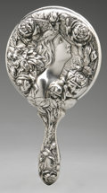 Silver Holloware, American:Mirrors and Vanity-related , An American Silver Hand Mirror. Foster & Bailey, Providence,RI, Late Nineteenth Century. Hallmark to the side with ...