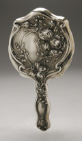 Silver Holloware, American:Mirrors and Vanity-related , An American Silver Hand Mirror. Maker unknown, Early TwentiethCentury. Unidentified hallmark to the front with STER...