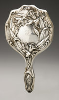 Silver Holloware, American:Mirrors and Vanity-related , An American Silver Hand Mirror. Maker unknown, Early TwentiethCentury. Monogram to the reverse E, marked to the t...