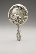 Silver Holloware, American:Mirrors and Vanity-related , An American Silver Hand Mirror. Maker unknown, Early TwentiethCentury. Marked to the top of the handle STERLING. ...