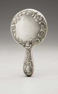 Silver Holloware, American:Mirrors and Vanity-related , An American Silver Hand Mirror. W.J. Braitsch & Co.,Providence, RI, Early Twentieth Century. Hallmark to the sidewit...