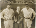 Autographs:Photos, The Finest Babe Ruth & Lou Gehrig Signed Photograph on Earth.Our lot title might start an argument or two, but we stand be...