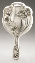 Silver Holloware, American:Mirrors and Vanity-related , An American Silver Vanity Set. Maker unknown, Early TwentiethCentury. Comprising a hand mirror, hair brush and comb, ... (Total:3 Items)