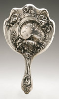 Silver Holloware, American:Mirrors and Vanity-related , An American Silver Hand Mirror. Unger Bros., Newark, NJ, EarlyTwentieth Century. Hallmark to the side of the handle w...