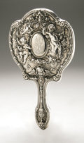 Silver Holloware, American:Mirrors and Vanity-related , An American Silver Hand Mirror. Gorham, Providence, RI, EarlyTwentieth Century. Monogram to the reverse NL, hallm...