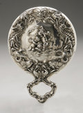 Silver Holloware, American:Mirrors and Vanity-related , An American Silver Hand Mirror. Unger Bros., Newark, NJ, EarlyTwentieth Century. 'Loves Voyage' pattern, unmarked. 7....