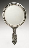 Silver Holloware, American:Mirrors and Vanity-related , An American Silver Hand Mirror. The Kirk Corporation, Baltimore,MD, Early Twentieth Century. Script monogram to the t...
