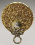 Silver Holloware, American:Mirrors and Vanity-related , An American Silver Hand Mirror. Whiting Mfg. Co., Providence, RI,Late Nineteenth Century. Gilt finish, script monogra...
