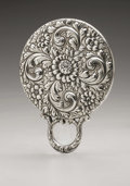 Silver Holloware, American:Mirrors and Vanity-related , An American Silver Hand Mirror. Maker unknown, Early TwentiethCentury. Monogram to the side H.V.S., marked on the...