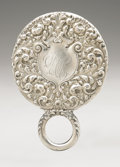 Silver Holloware, American:Mirrors and Vanity-related , An American Silver Hand Mirror. La Pierre Mfg. Co., Newark, NJ,Late Nineteenth Century. Script monogram to the revers...