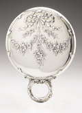Silver Holloware, American:Mirrors and Vanity-related , An American Silver Hand Mirror. Dominick & Haff, New York, NY,1889. Hallmark to the top of the handle with STERLING...