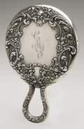 Silver Holloware, American:Mirrors and Vanity-related , An American Silver Hand Mirror. Gorham, Providence, RI, 1898.Script monogram to the reverse CMS, hallmark to the ...